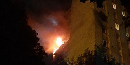 Ночное происшествие в Харькове. Студентов пришлось эвакуировать из горящего общежития