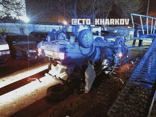 В Харькове произошла погоня с перевернутыми и разбитыми автомобилями (фото)