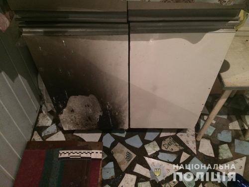 В Харькове в жилой дом бросили емоксти с зажигательной смесью (фото)