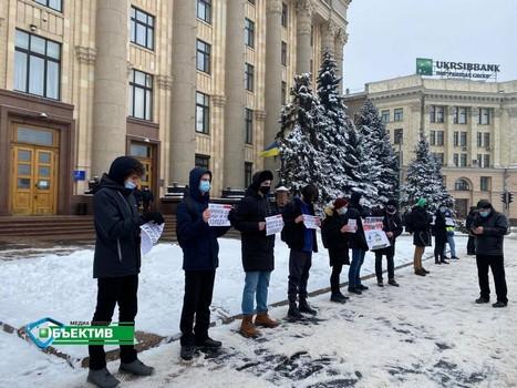 Массовые митинги из-за тарифов на газ состоялись на Харьковщине (фото, видео)