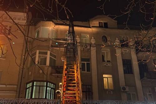 В центре Харькова произошел пожар (фото)