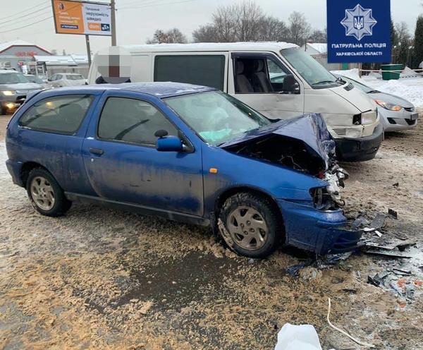 ДТП в Харькове: у машины отвалилась передняя часть, есть пострадавшие
