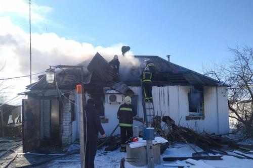 Под Харьковом женщина сгорела заживо (фото)