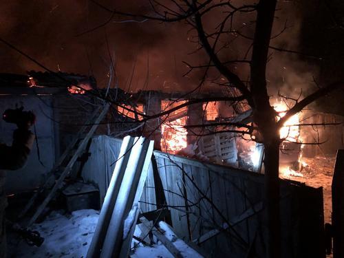 На Харьковщине произошел пожар (фото)