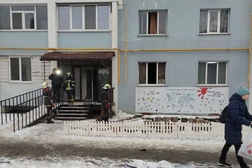 В Харькове горел детский центр, в котором находились воспитанники (фото)