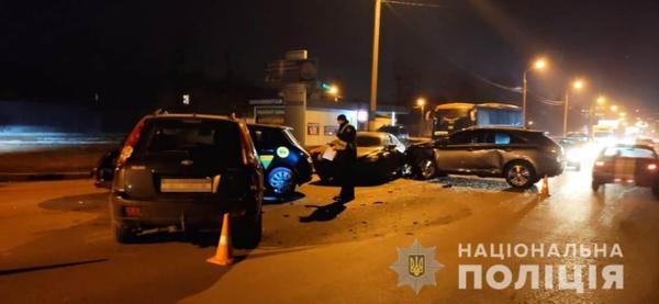 В Харькове произошла массовая авария (фото, видео)