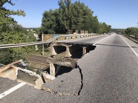 В Харьковской области временно закроют печально известный мост