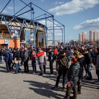 В центре Харькова скопилось рекордное количество людей (фото)