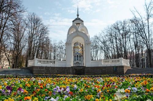 В Харькове начали масштабную высадку цветов (фото)