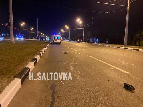 Ботинки разбросало по асфальту. В Харькове полицейский погиб на проспекте (фото, видео)