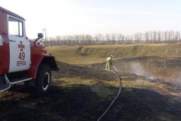 На Харьковщине поджигатель угодил в больницу (фото, видео)