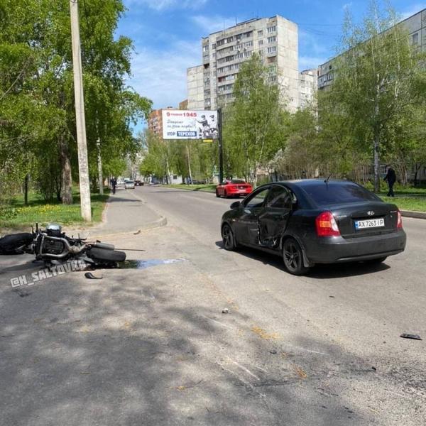 Авария в Харькове: мужчину увезли в больницу (фото)