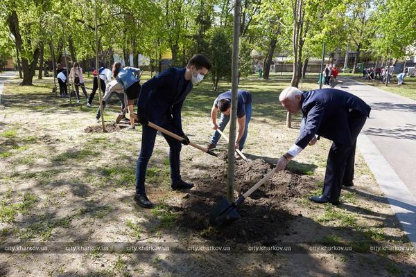 Центральный парк Харькова озеленили (фото)