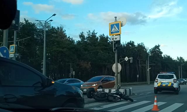 В Харькове в зоне отдыха сбили мотоциклиста (фото, видео)