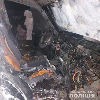 В селе на Харьковщине уничтожили два автомобили одного владельца (фото)