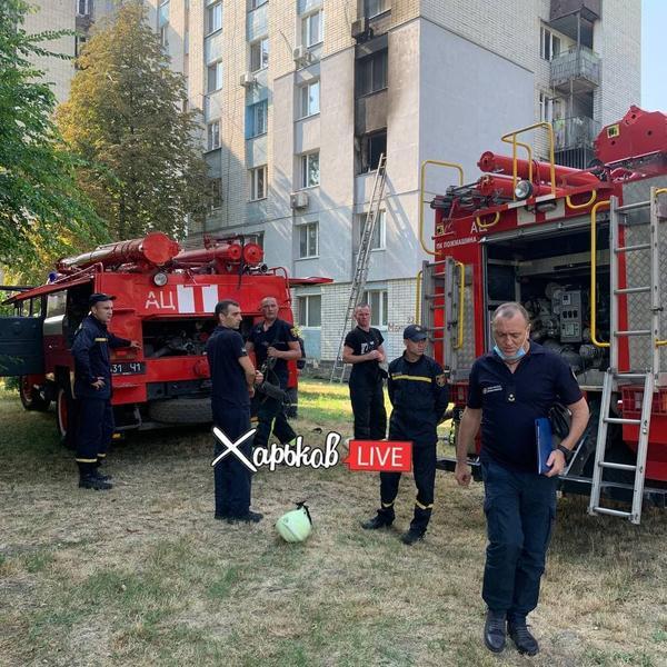 В Харькове горит жилой дом: пострадал ребенок (видео)