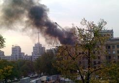 Харьков в XXI веке. 18 сентября - загорелся северный корпус университета имени Каразина